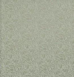 BN Wallcoverings Glamorous 46773 off-white, zilvergrijs kant behang vlies