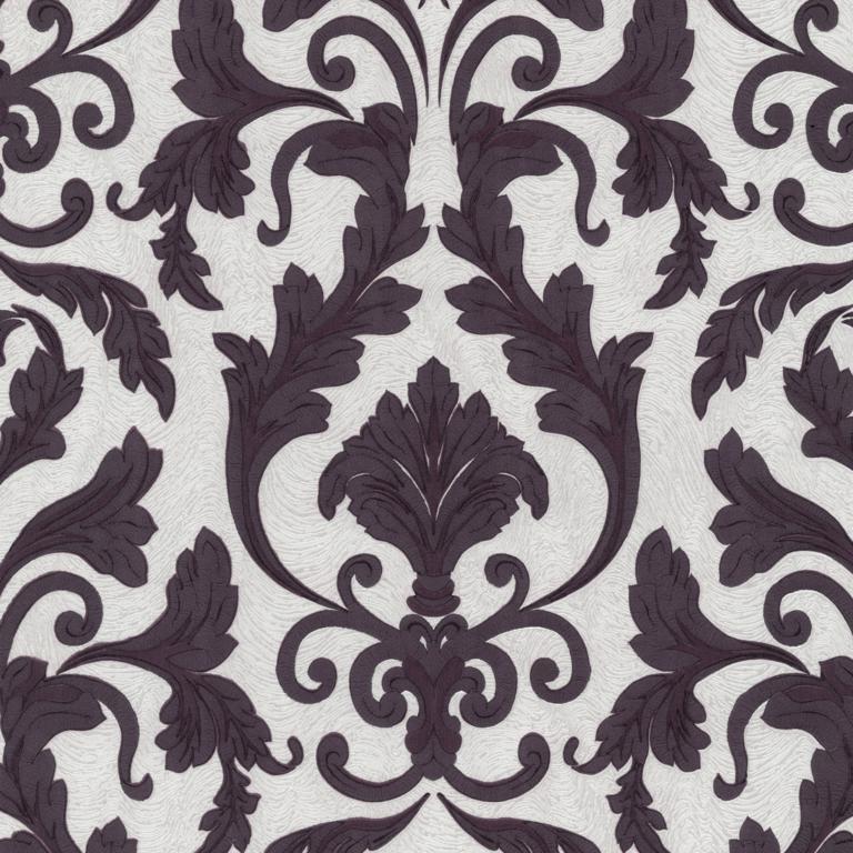 02264-20 paars beige modern barok behang