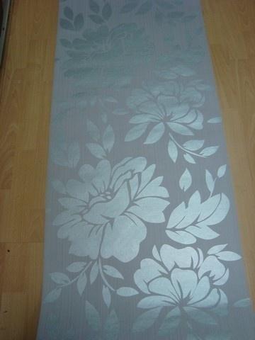 grijs of wit  glim vlies modern bloemen behang 21