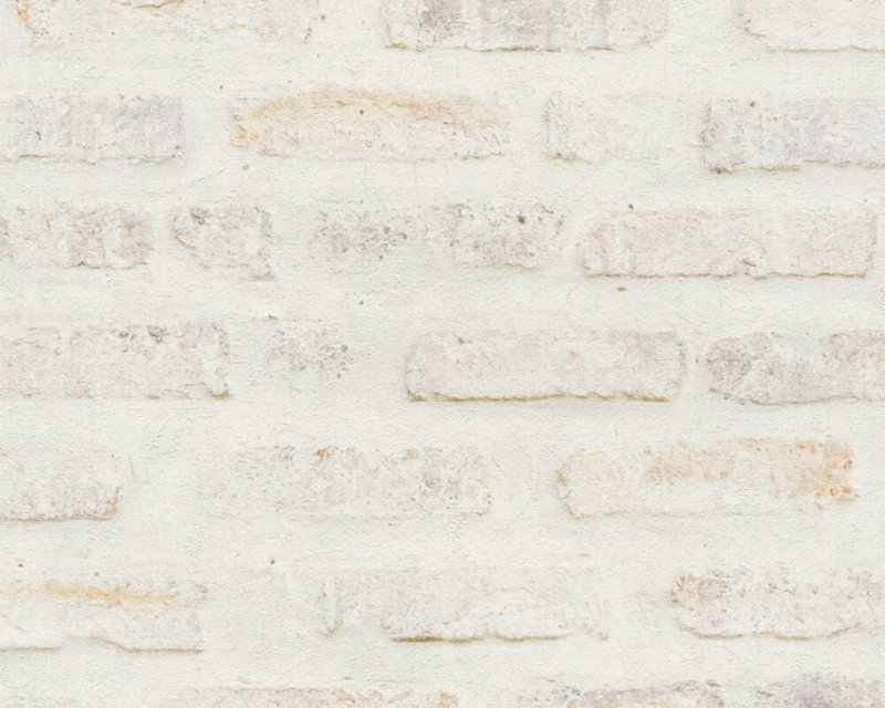 vliesbehang steenlook 3d grijs wit  37422-1