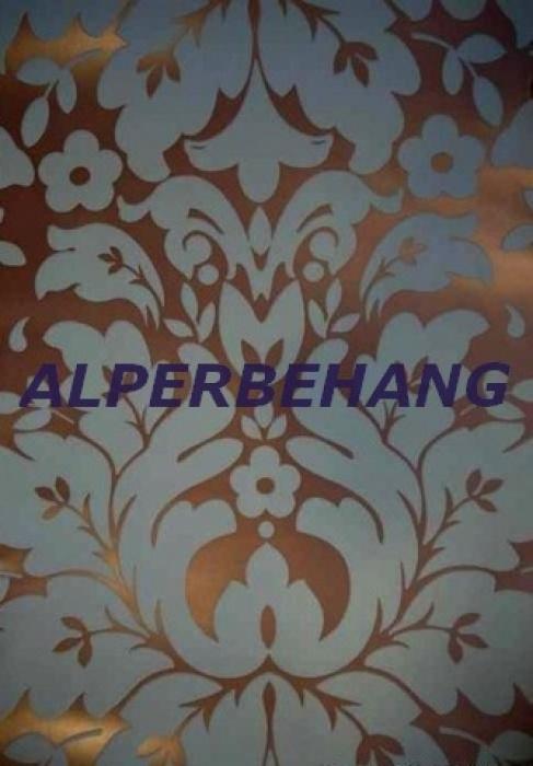 Barok vinyl behang brons blauw xxx42 | ASSORTI BEHANG
