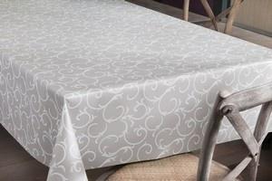 tafelzeil bloemen grijs