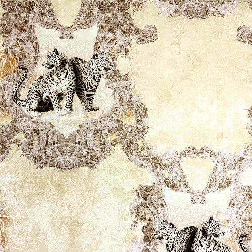 Hermitage luipaard behang bruin Metallic 33543-2