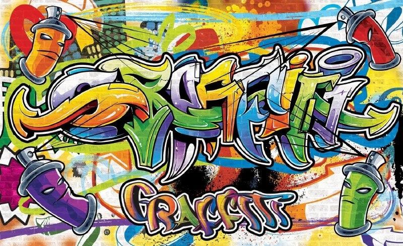 For Wall Fotobehang Graffiti 1400P8