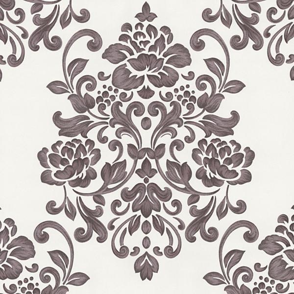 02273-50 paars creme modern barok behang