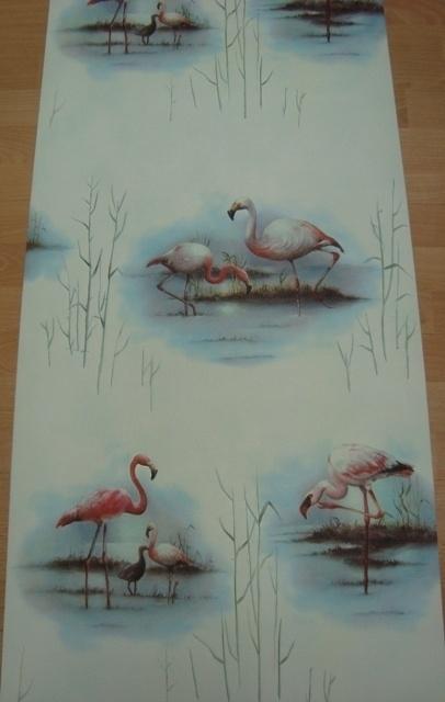 flamingo as creation faro III vinyl vogel behang xx41