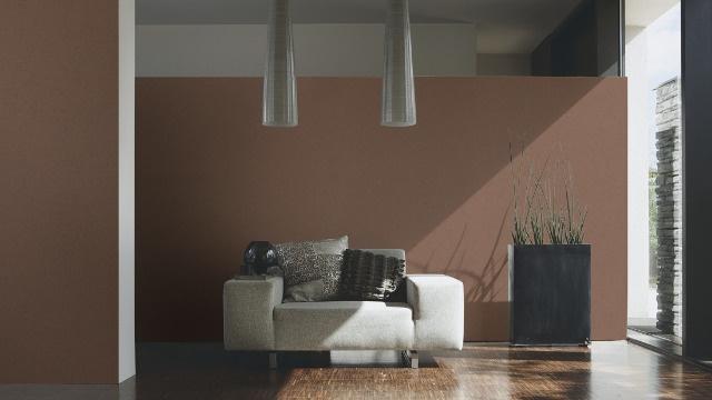 bruin vlies behang glitter 31968-1