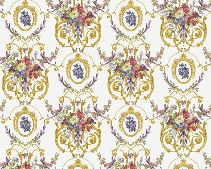 Chateau 4 engelse bloemen vinyl behang 954933 95493-3