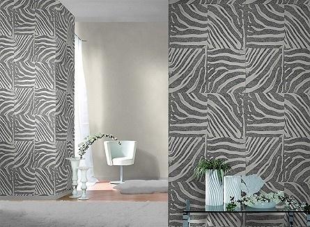 Zebra Print Behang.Zebraprint Behang Patchwork Rasch 423303 Opruiming Behang Goedkoop