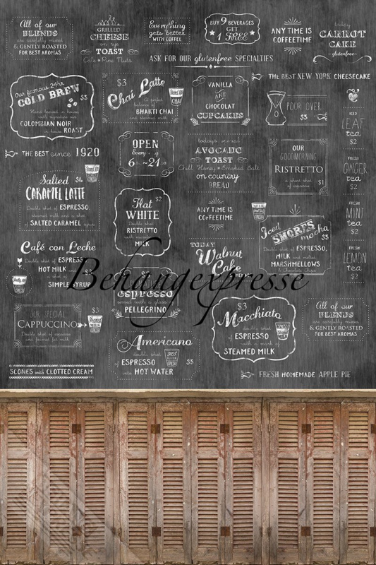 Behangexpresse COLORchoc Wallprint Coffeehouse INK 6080