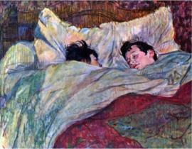 Schilderijbehang - Toulouse Lautrec - Sleeping