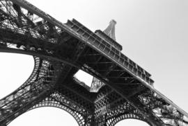 Fotobehang - Zwart wit - Fotobehang Parijs in zwart wit