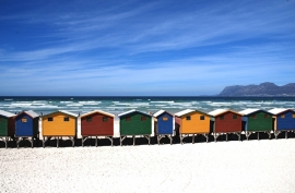 Fotobehang - Strand - Strandhuisjes 1  - Beachhouses 1