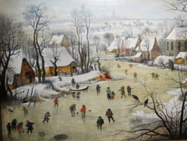 Schilderijbehang - Pieter Bruegel - Winterlandschap