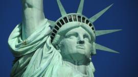 Fotobehang - Vrijheidsbeeld - New York