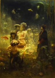 Schilderijbehang - Repin - Sadko