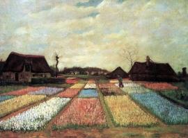 Schilderijbehang - Van Gogh - Bollenvelden
