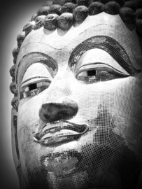 Fotobehang - Zwart wit - Boeddha ( Amnat Charoen )