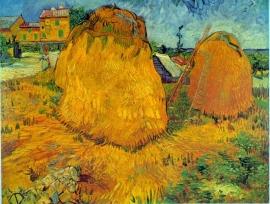 Schilderijbehang - Van Gogh - Hooibergen