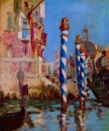 Schilderijbehang - Manet - Grand Canal in Venice