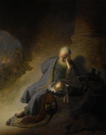 Schilderijbehang  met Religieuze Kunst - Jeremia