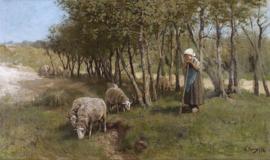 Schilderijbehang - Anton Mauve - Dekkers dune