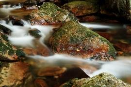 Fotobehang - Waterval - Stenen - Stones