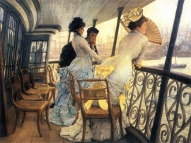 Schilderijbehang -Tissot - The Gallery of the H.M.S. Calcutta