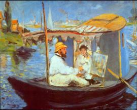 Schilderijbehang - Manet - Claude Monet