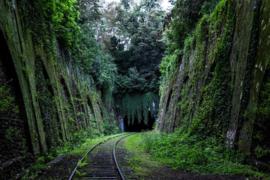 Fotobehang Treinen - Fotobehang - Treinen - Spoorbaan - Railroad