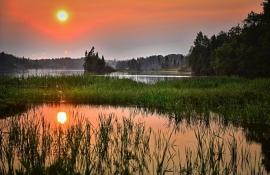 Fotobehang - Zonsondergang 4 - Sunset 4