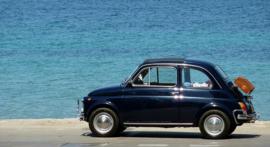 Fotobehang - Fiat 500 blauw