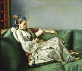 Schilderijbehang - Liotard - Ritratto di Maria Adelaide di Francia