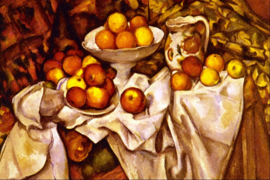 Schilderijbehang - Cézanne - Still Life Apples and Oranges