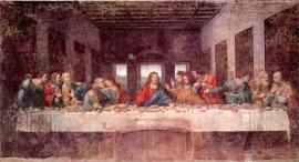 Schilderijbehang  met Religieuze Kunst - Het laatste Avondmaal