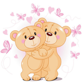 Fotobehang Kinderkamer - Knuffelberen / Teddies