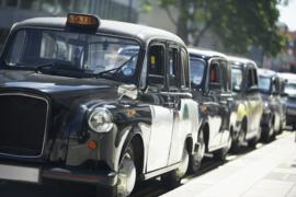 Fotobehang - Oldtimers - Londen - Taxi