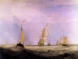 Schilderijbehang -Turner - Going to Sea
