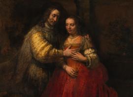 Schilderijbehang - Rembrandt - Het Joodse bruidje