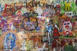 Schilderijbehang met Graffiti - Street Art