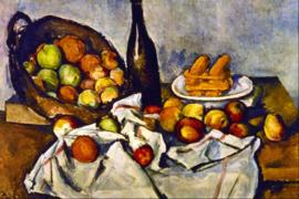 Schilderijbehang - Cézanne - Mand met appelen - Apple basket