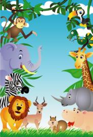 Fotobehang Kinderkamer - Jungle