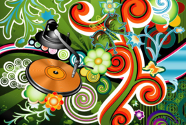 Fotobehang - Muziek - Seventies