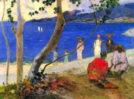 Schilderijbehang - Gauguin - Beach Scene
