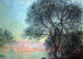 Schilderijbehang - Monet - Antibes seen from La Salis