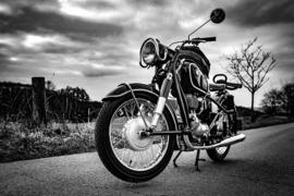 Fotobehang - Zwart wit - Motorcycle BMW