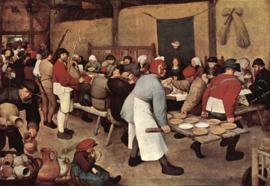 Schilderijbehang - Pieter Bruegel - Boerenbruiloft
