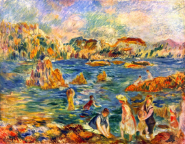 Schilderijbehang - Sisley - At the beach of Guernesey