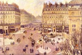 Schilderijbehang Pissarro - Place du Theatre