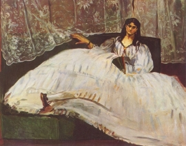 Schilderijbehang - Manet - Lady with Fan